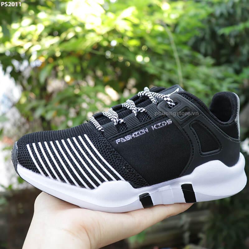 Giày thể thao trẻ em xuất khẩu cao cấp màu đen cho nam 6 - 12 tuổi