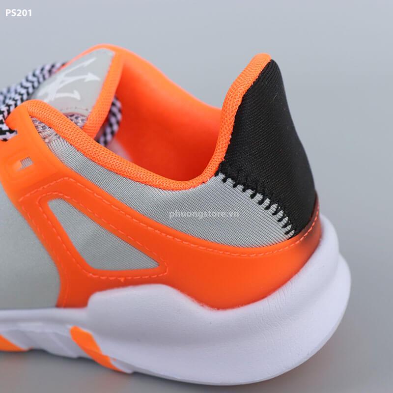 Giày thể thao trẻ em nam xám cam cực sành điệu cho bé từ 6 - 12 tuổi