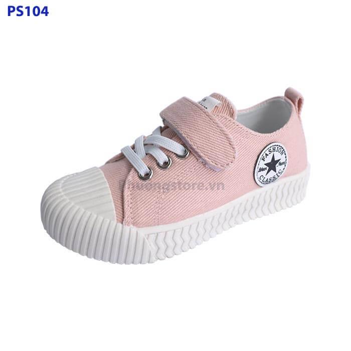 Giày thể thao vải cho bé trai, bé gái từ 3 - 7 tuổi 2 màu đen, hồng