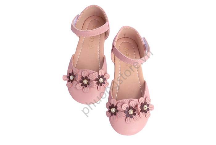 Giày búp bê trẻ em gái đính nơ hoa cực nữ tính cho bé từ 3 - 11 tuổi