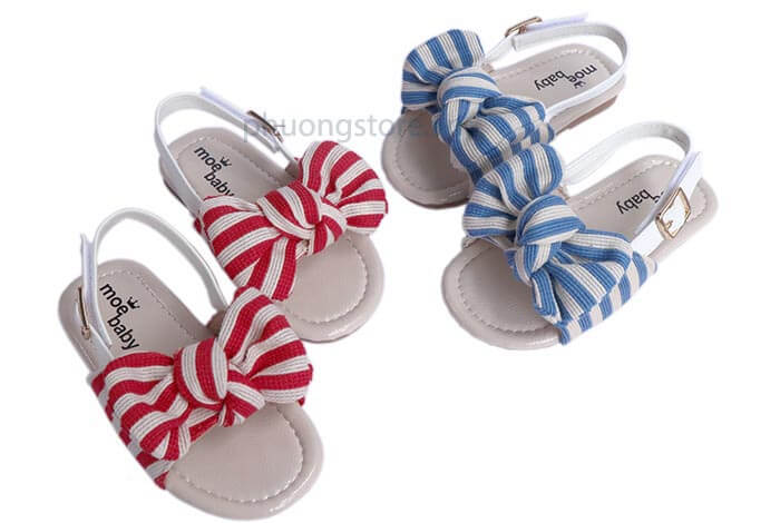 Dép quai hậu cho bé gái từ 1 - 3 tuổi siêu dễ thương, quai dán ôm chân