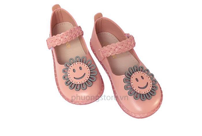 Giày búp bê mặt cười trẻ em nữ mềm dẻo , êm chân từ 4 - 7 tuổi