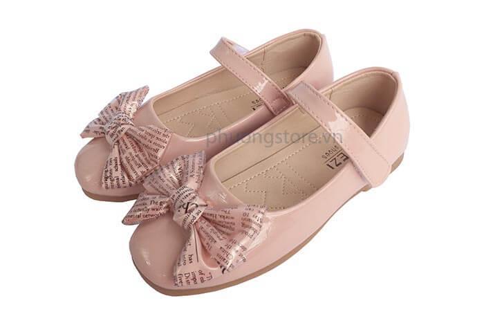 Giày trẻ em nữ kiểu búp bê da bóng đẹp cho bé gái từ 7 - 11 tuổi