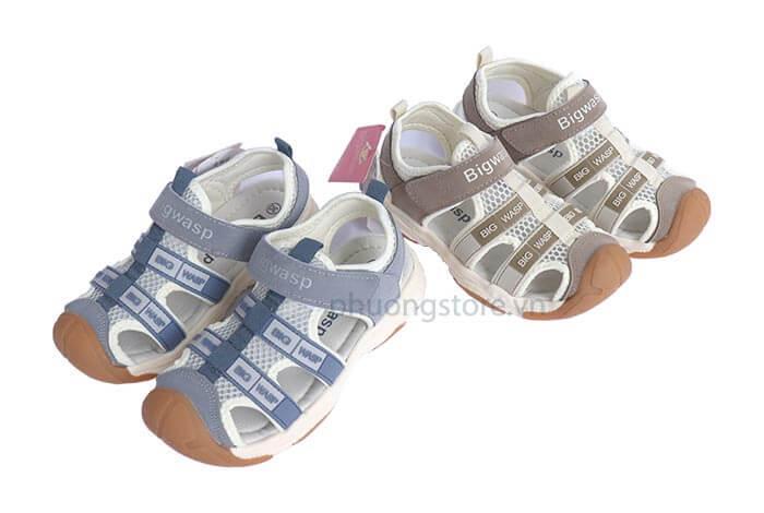 Giày sandal nhập khẩu cao cấp cho bé trai từ 3-7 tuổi