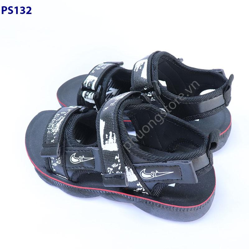 Dép sandal trẻ em cho bé trai từ 3 - 7 tuổi màu đen đi học, đi chơi