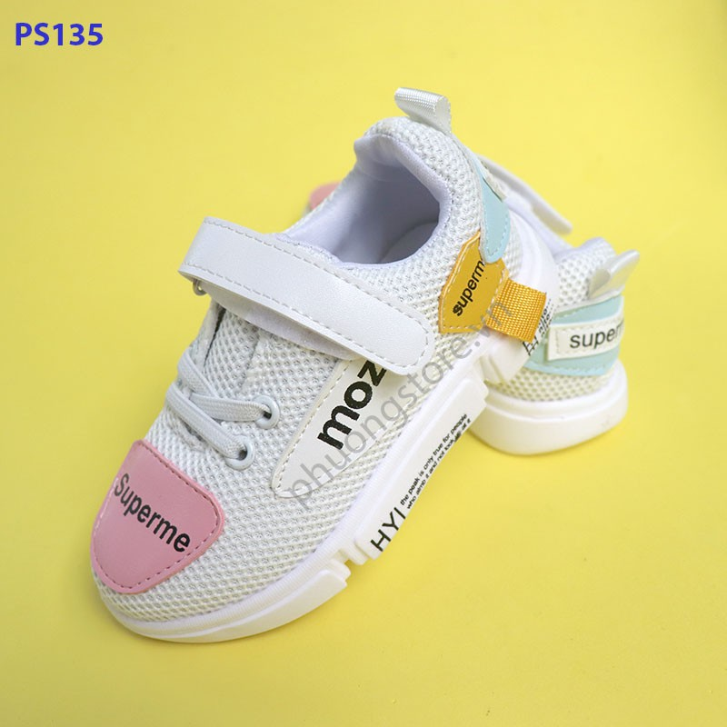 Giày thể thao trẻ em cho bé gái từ 2 - 7 tuổi Hàn Quốc cực êm chân
