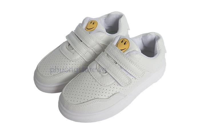Giày thể thao trẻ em nữ mặt cười đẹp cho bé gái từ 3 - 12 tuổi