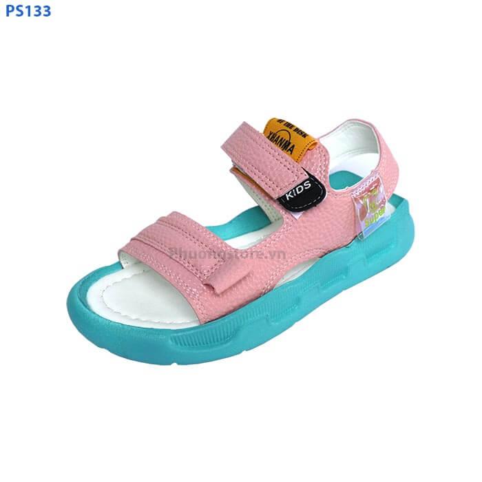 Dép sandal cho bé gái đi học 2 màu trắng, hồng cho bé từ 3 - 12 tuổi